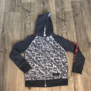 Boys sweatshirt grey camouflage HAWKSK8 10/12  Zip